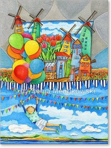 Kinderzimmer Bild: Windmühlen Land