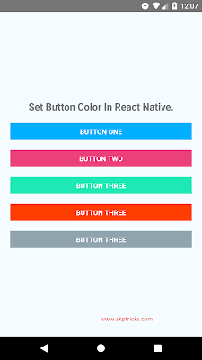 How Customize Button In React Native