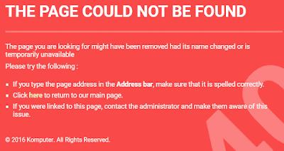 Gambar ilustrasi page not found 404
