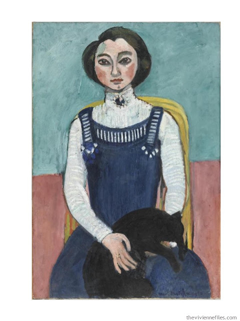 Building a Capsule Wardrobe by Starting with Art: Marguerite au Chat Noir by Henri Matisse