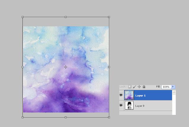 efek watercolor, efek photoshop, efek foto