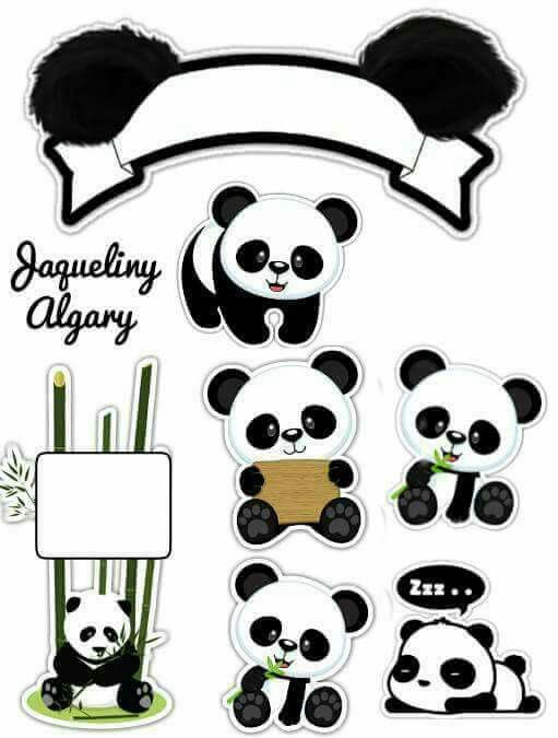 picture relating to Printable Panda Pictures referred to as Panda No cost Printable Cake Toppers. - Oh My Fiesta! inside english