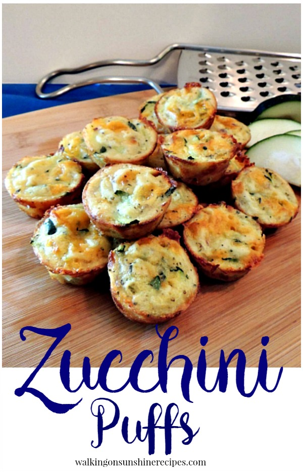 Zucchini Puffs Recipe are another delicious way to enjoy summer zucchini from Walking on Sunshine.