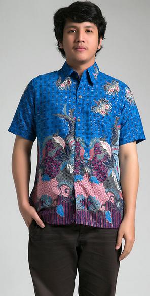 Baju Batik Muslim Laki-Laki Modern