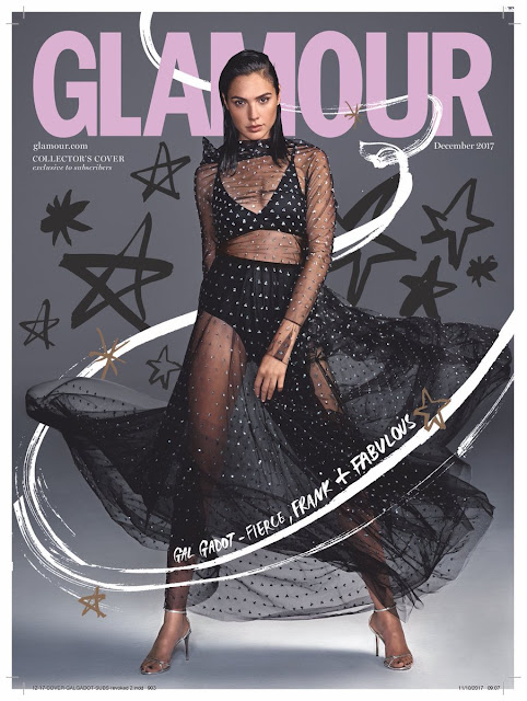 Wonder Woman actress Gal Gadot Glamour UK Magazine Photoshoot