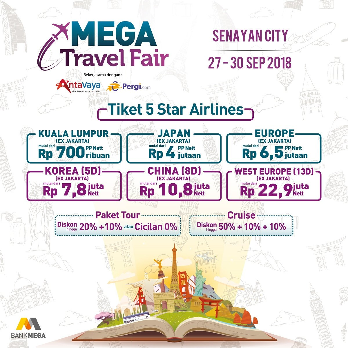 Bank Mega - Event Mega Travel Fair Jakarta & Bandung (27 - 30 Sept 2018)