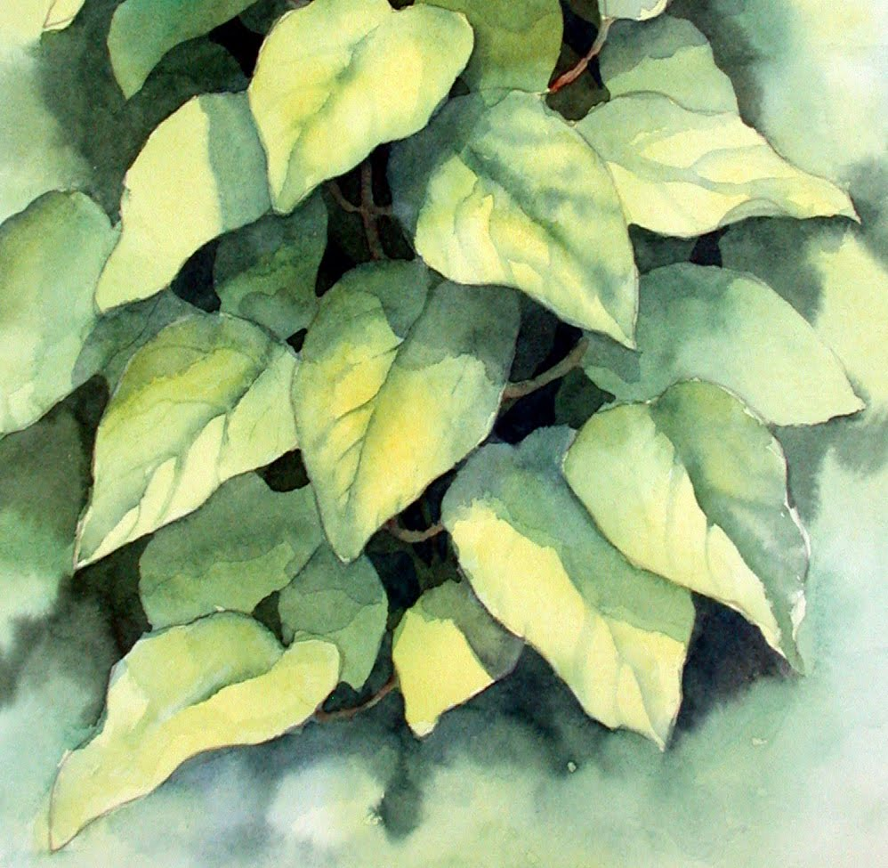Ann's Watercolour Studio: Negative painting and a 3D ...