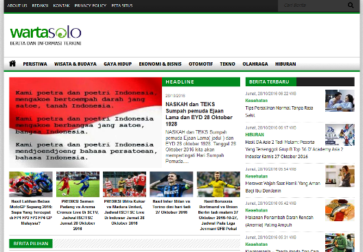 WartaSolo Website Portal Berita Terbaru Hari Ini
