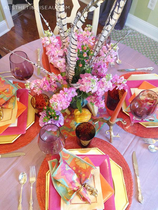 Aesthetic Oiseau My Jewel Toned Turkey Table