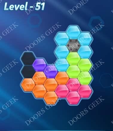 Block! Hexa Puzzle [6 Mania] Level 51 Solution, Cheats, Walkthrough for android, iphone, ipad, ipod