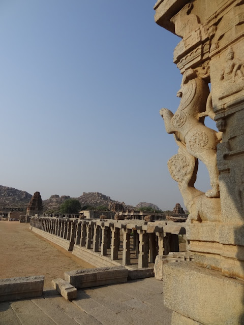 A distant view of the Vithala temple in Hampi