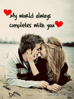 My World Always Completes with You Mobile Wallpaper
