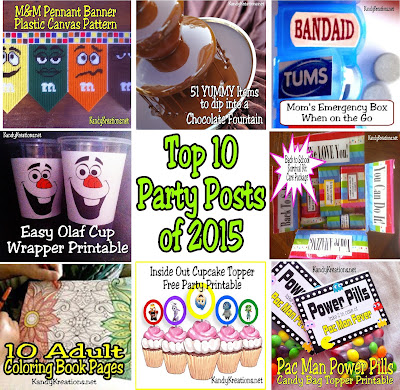 "If you're looking to take your party plans for ""cool"" to ""wow"" in 2016, be sure to check out these 10 party posts that were reader favorites in 2015.  I'm sure there are some great printables, tutorials, shares, and great ideas to help you be the hostess with the mostess this year."