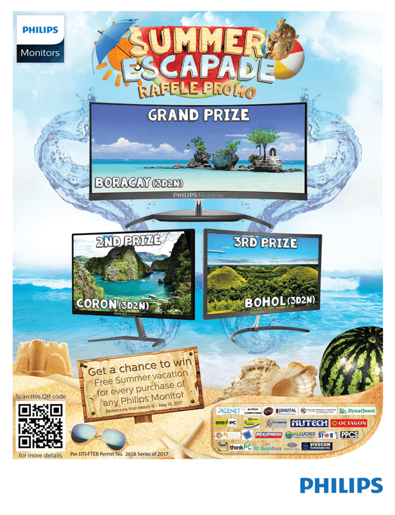 Philips Monitors Summer Escapade Raffle Promo Announced!