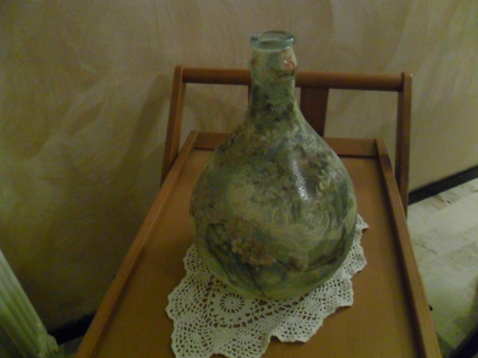 Arredare Con Le Damigiane il mercatino di zia lella: damigiana in vetro con decoupage