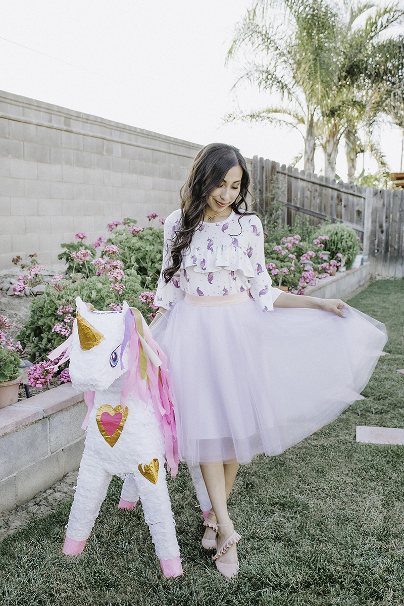 unicorn blouse with tulle skirt unicorn pinata