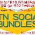 MTN new social data bundles 1GB for R10 WhatsApp, 1GB for R10 Twitter, 1GB for R50 Facebook, 1GB for R50 YouTube