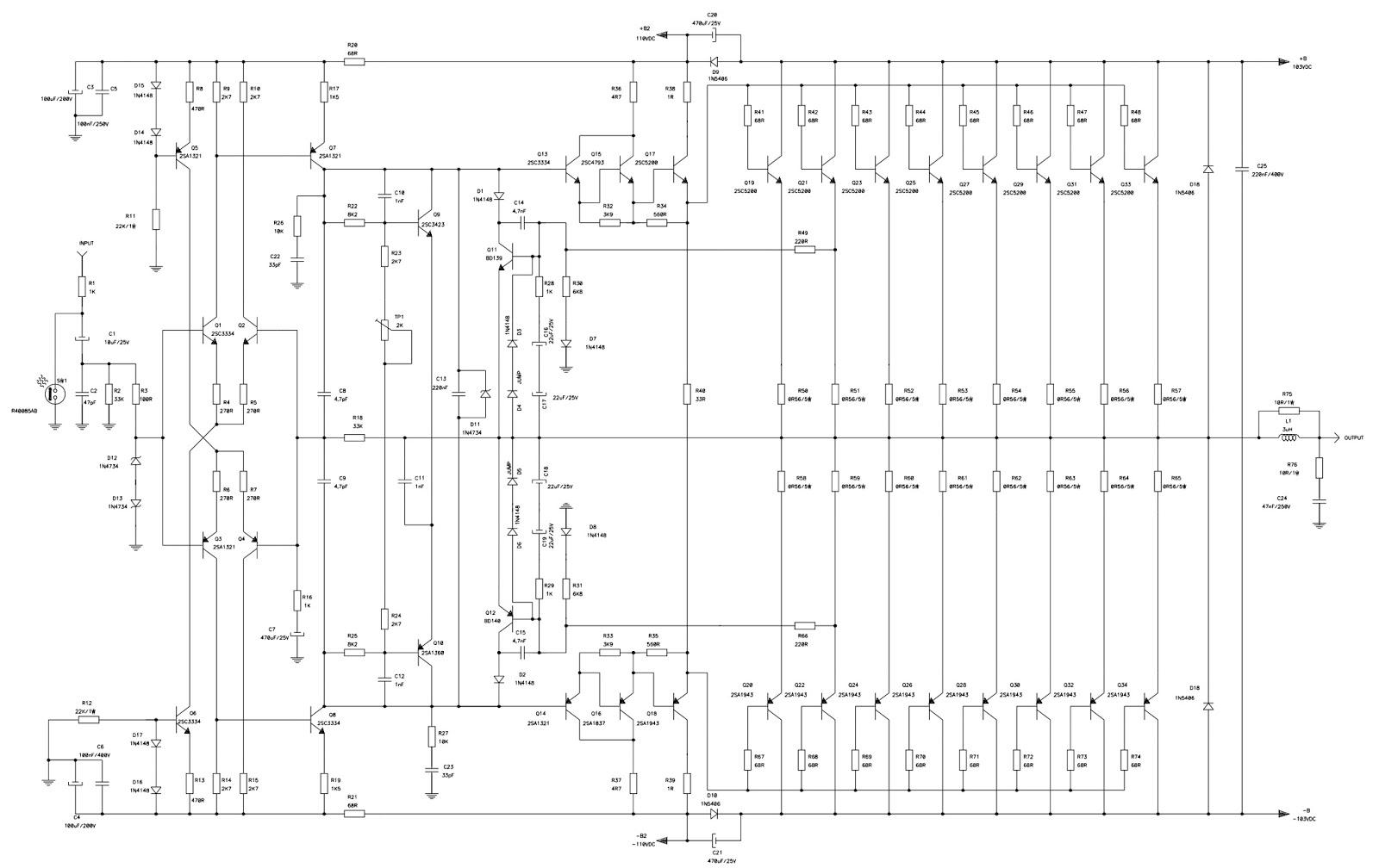 Pro Audio Wiring Diagrams 98 Audi A4 Fuse Diagram Attack 6400  Professional Power Amplifier Circuit
