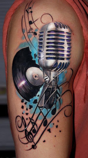Retro Música Tatuagem