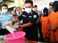 Sabu-Sabu Asal Malaysia Pesanan Napi Narkoba Karawang Dimusnahkan