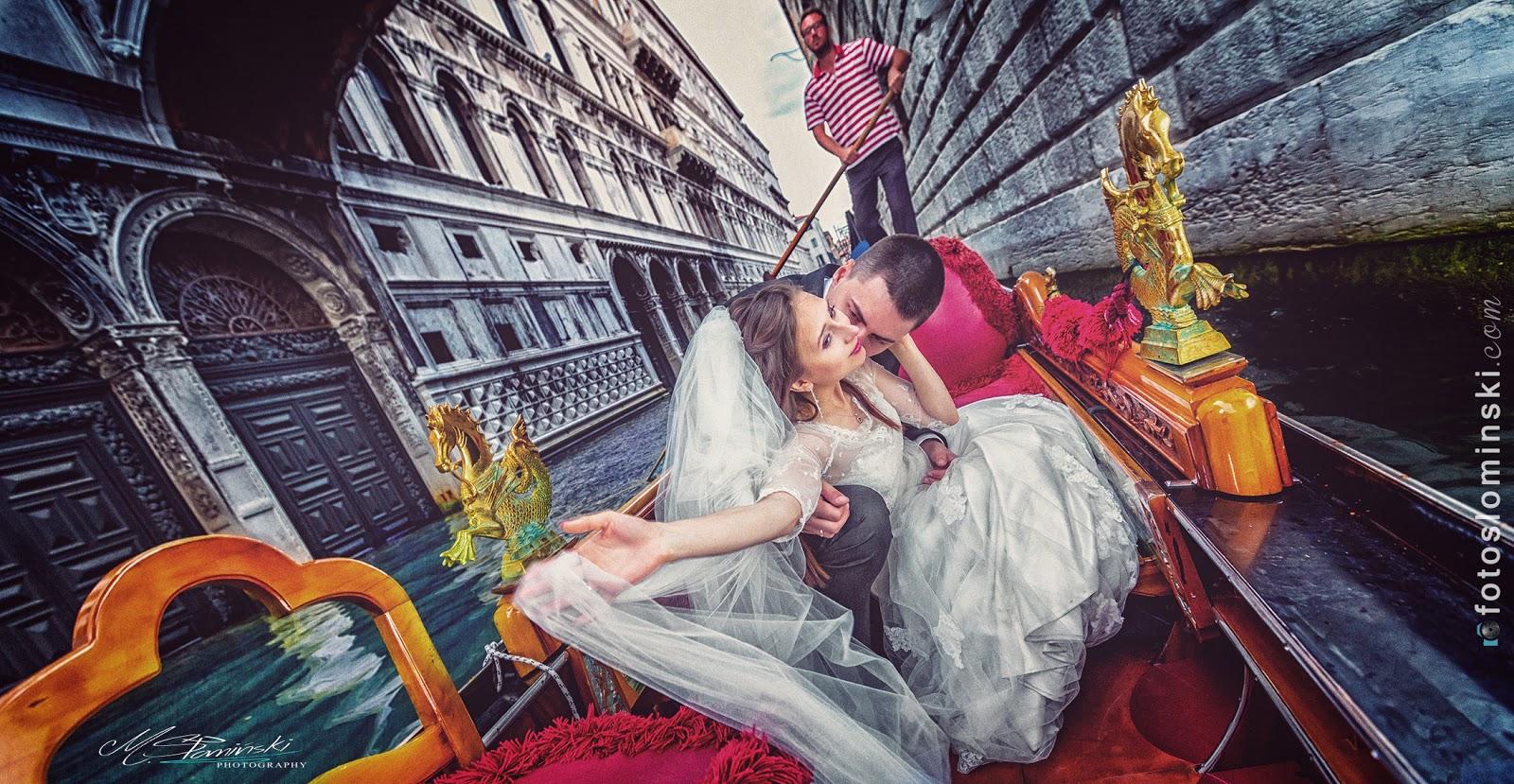 Wenecja - idealne miejsce na sesje ślubną. Fotografia slubna w Wenecji.