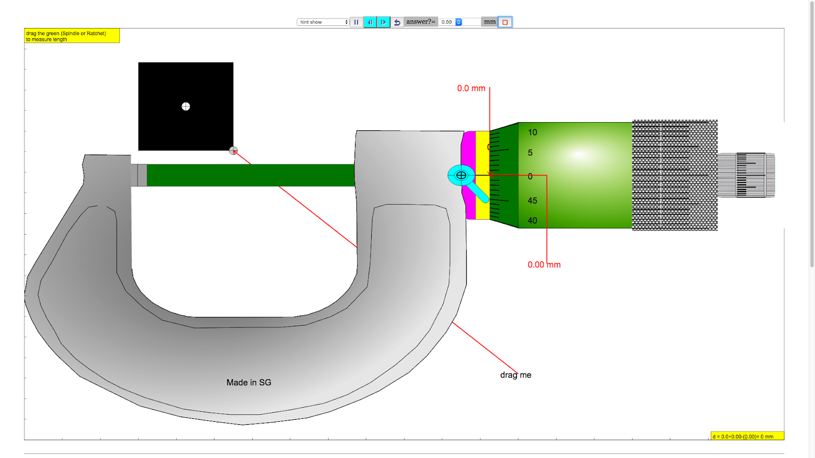 Ejs open source micrometer java applet with objects help zero updated 9 january 2017 ccuart Image collections