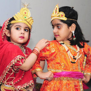 Bal Radha Krishna dress makeup