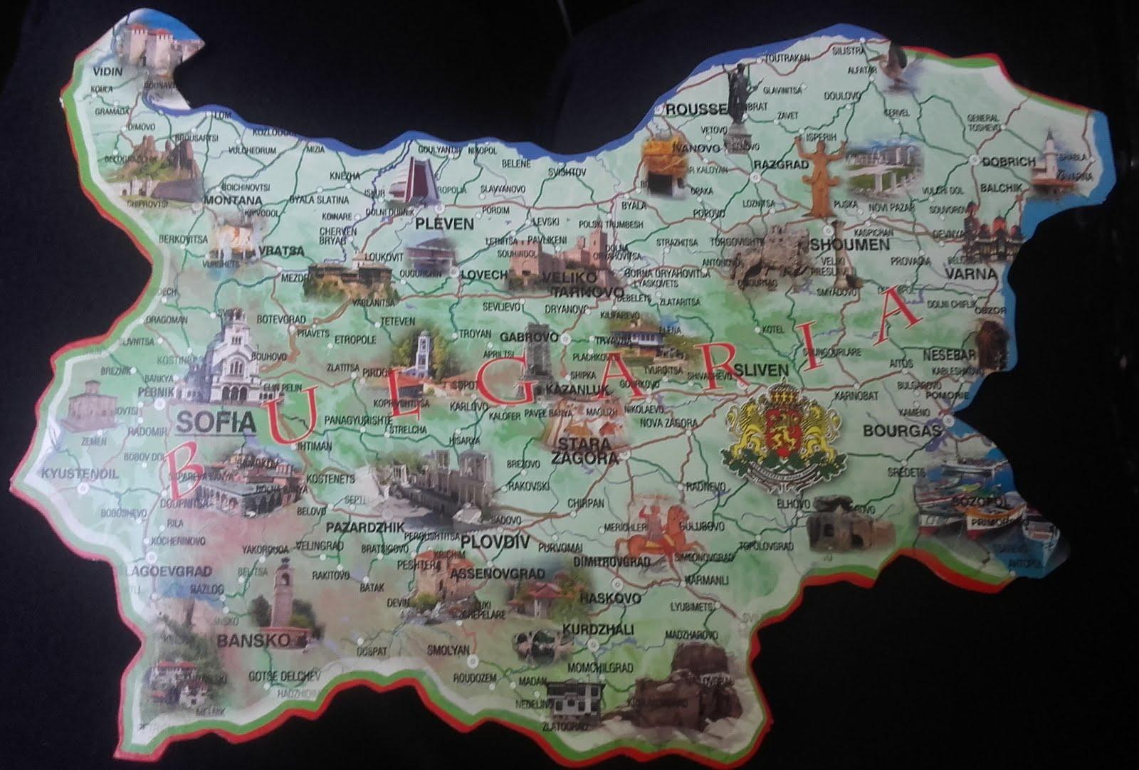 Polezen Blgarski Turisticheska Karta Na Blgariya