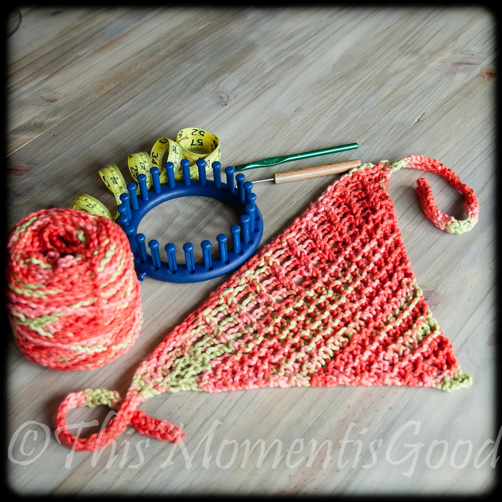 Loom Knitting by This Moment is Good!: LOOM KNIT HEAD WRAP/BANDANNA
