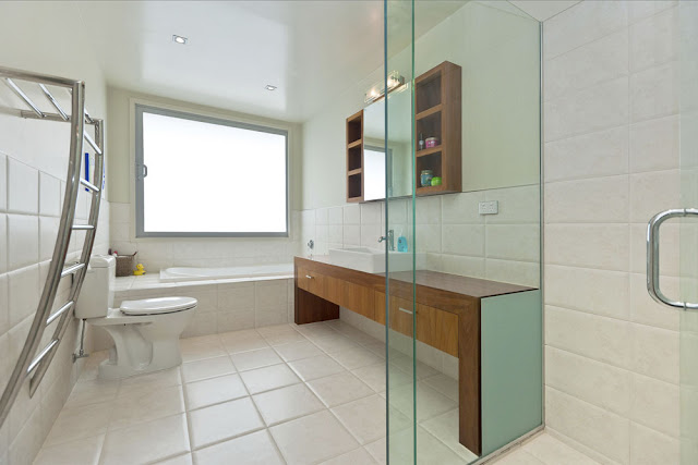 Photo of modern bathroom interiors