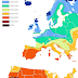 Europe vs. USA: Sunshine duration in hours per year