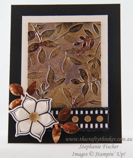#crazycraftersbloghop, Tarnished Foil, Layered Leaved, Eastern Beauty Bundle, #thecraftythinker, Stampin Up Australia Demonstrator, Stephanie Fischer, Sydney NSW