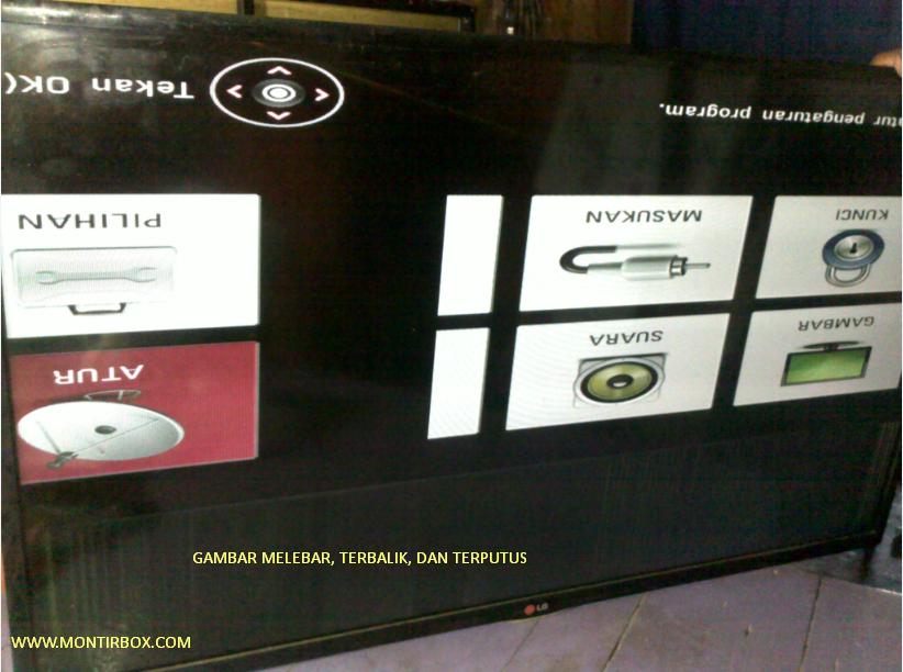 Cara Modifikasi Motherboard TV Led LG 32LN5100 menjadi 42LN5100
