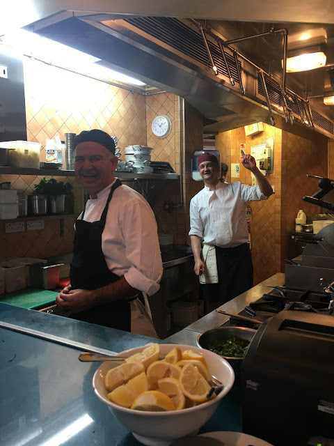 chefs at Italian restaurant Spaghetti House Sicilian Ave Holborn London