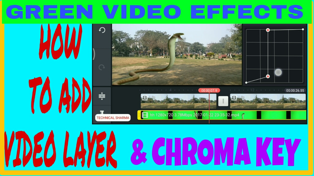 how to add video layer and green screen effects in