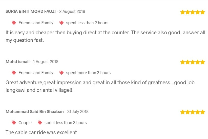 REVIEW ABOUT LANGKAWI SKYCAB at TRIPCARTE.ASIA