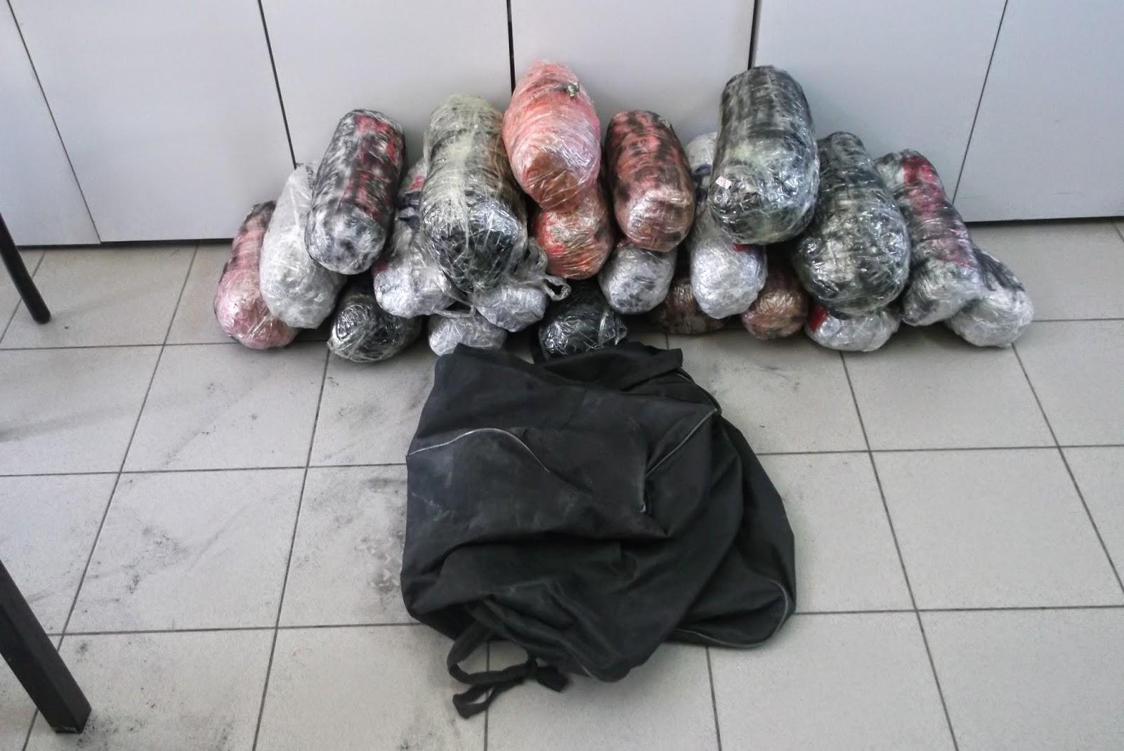 Σύλληψη δύο ατόμων στην Κρυσταλλοπηγή για εισαγωγή και μεταφορά ναρκωτικών ουσιών