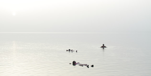 Floating in the Dead Sea - one of the top things to do in Jordan as a tourist