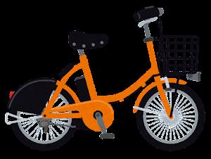 シェア自転車のイラスト(オレンジ)