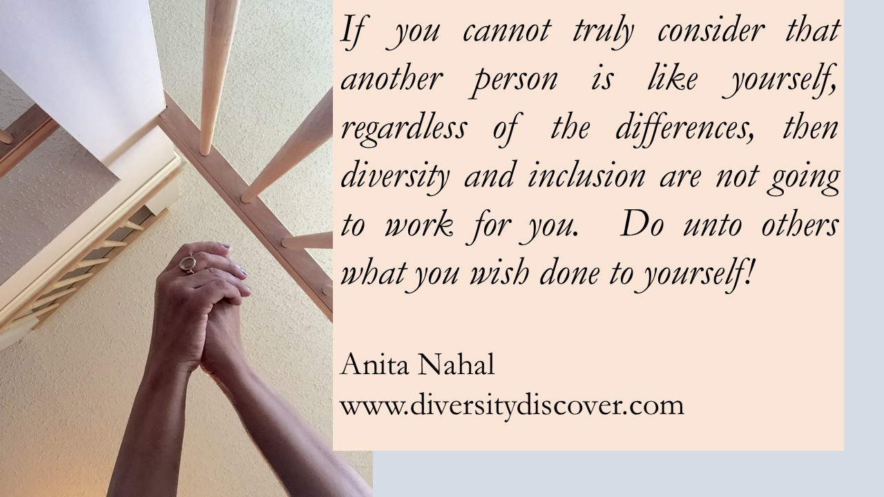 Diversity And Inclusion Quotes Awesome Quotes Poems And Thoughtsanita Nahal  Diversity And