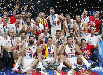 Spain Basketball Teamphoto Euro Champions 2015