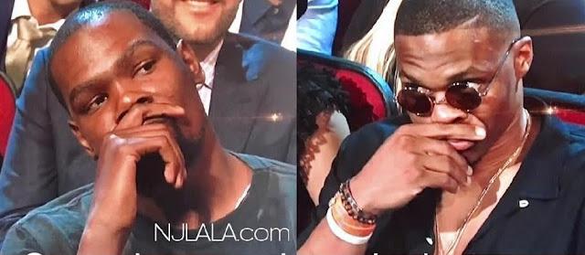 Kevin Durant Was Not Feeling Peyton Manning's Joke at ESPYs