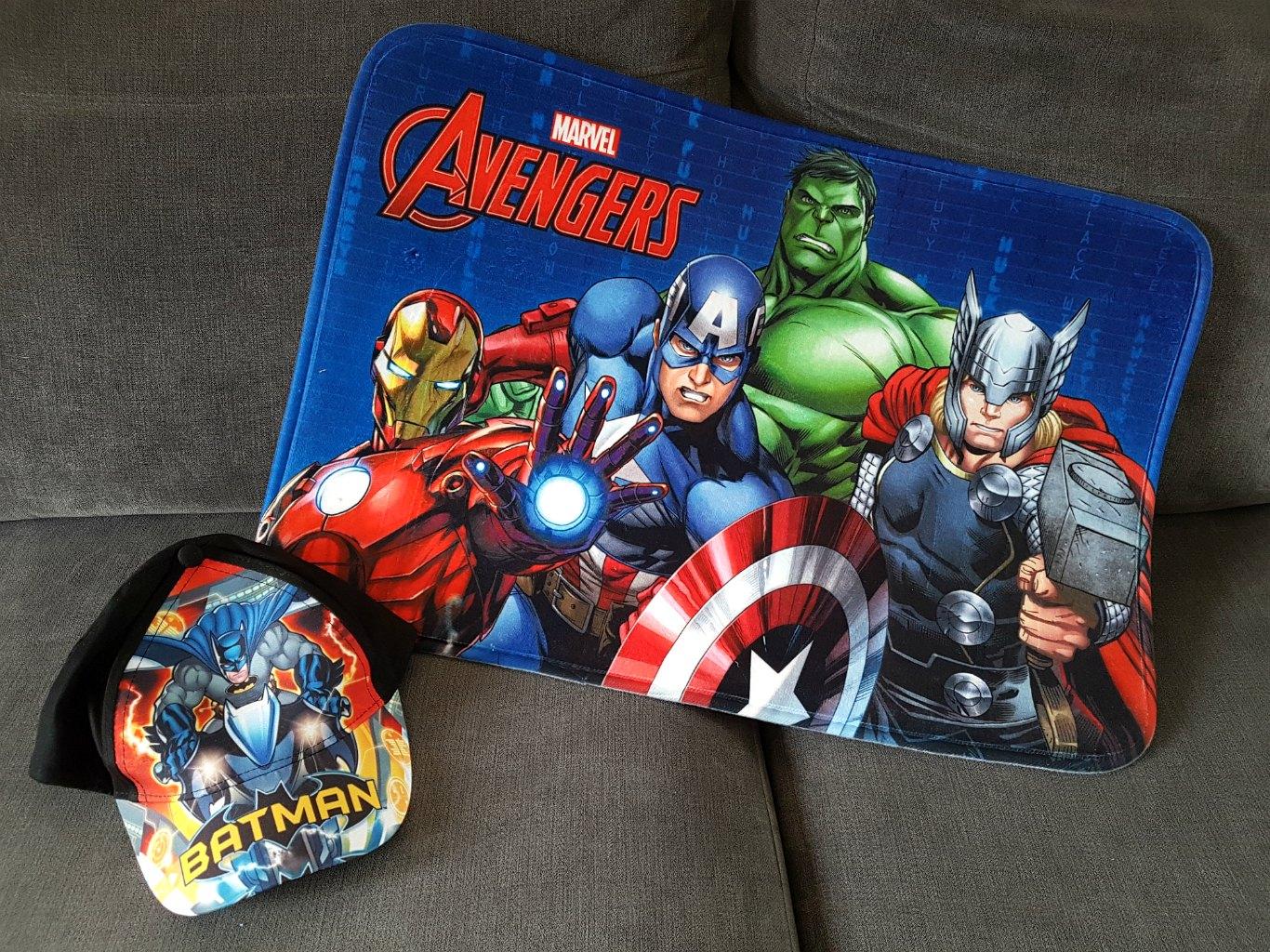 Marvel Avengers, Batman Cap, Minions Stationery