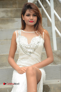 Actress Clara Farnandes Pictures in White Long Dress at Lovers Park Movie Opening  0065