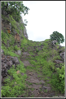 Way towards Fort entrance...Vairaatgad Fort