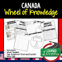 Canada Activity, World Geography Activity, World Geography Interactive Notebook, World Geography Wheel of Knowledge (Interactive Notebook)