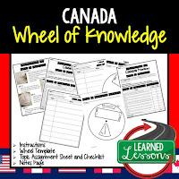 Canada Activity, World Geography Activity, World Geography Interactive Notebook, World Geography Wheel of Knowledge (Interactive Notebook)