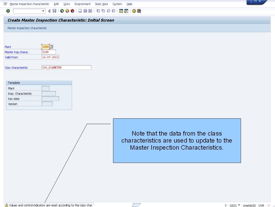 Sap Learning Amp Examination Qm Batch Inspection Characteristics Integration