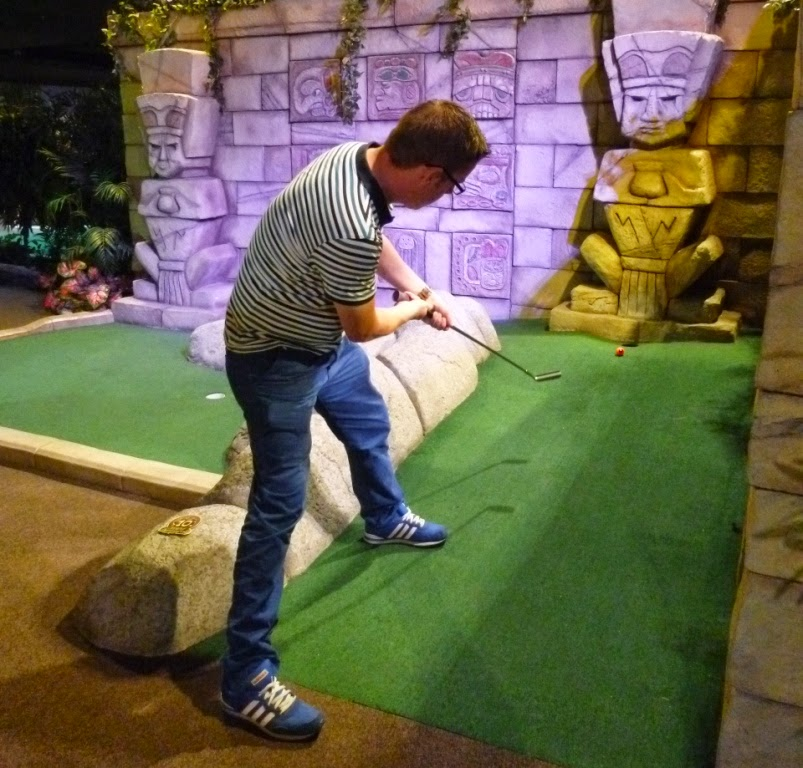 Richard Gottfried playing at The Lost City Adventure Golf in Nottingham