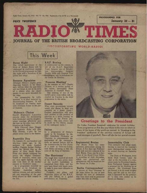 BBC Radio Times, 23 January 1942 worldwartwo.filminspector.com